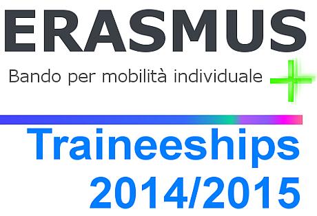 Bando Erasmus plus Traineeships - Riapertura termini