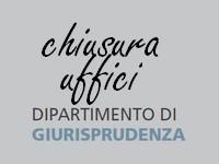CHIUSURA ESTIVA UFFICI DIREZIONE DIPARTIMENTO